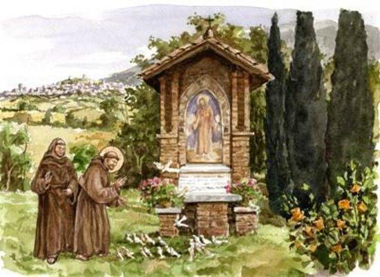 Barbara B&B : Predica agli uccelli di San Francesco.