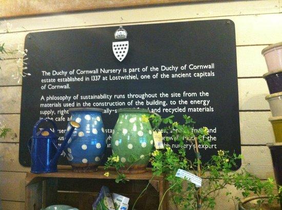Duchy of Cornwall Nursery & Cafe: Origin and history of Duchy