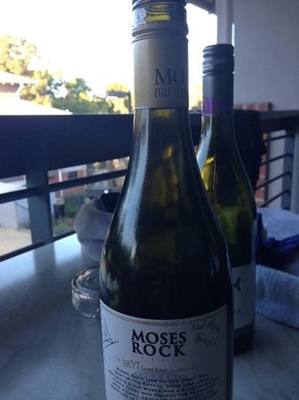 Darby Park Serviced Residences: wines on the balcony at darby apartments