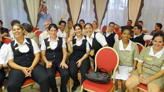 Paradisus Varadero Resort & Spa: Staff at 13th Anniversary Party