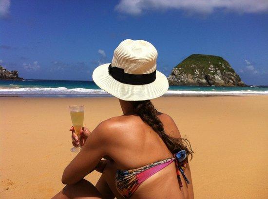 Leao Beach: Bom levar guarda-sol e o que for consumir