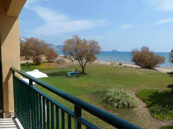 Louis Zante Beach : A view from our balcony.