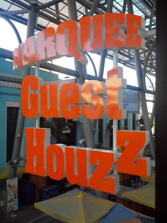 Marquee Guest Houzz: Marquee Guest House signage