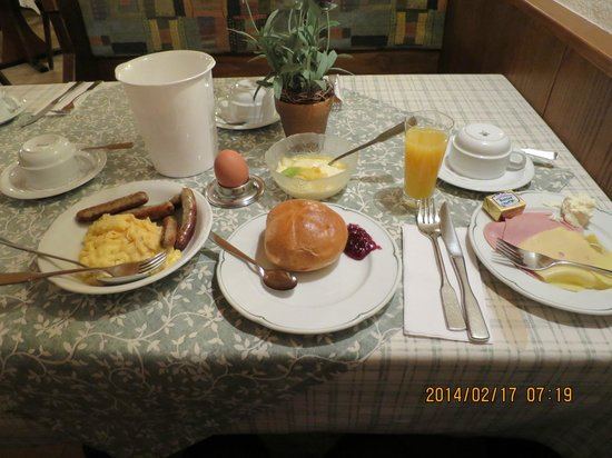 AKZENT Hotel Schranne: 朝食、ソーセージが美味しかったです。