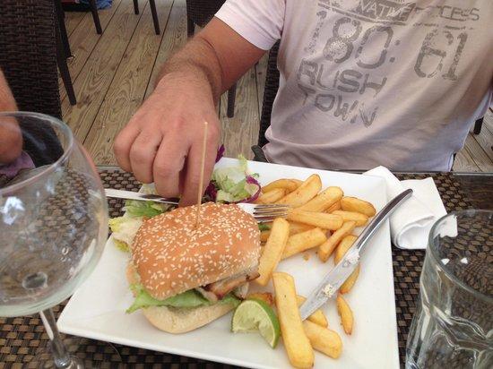 Palm Beach : Fish burger