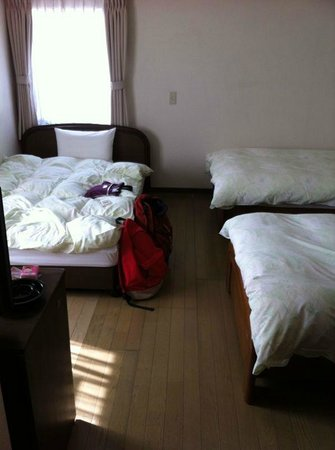 Flexstay Inn Kiyosumishirakawa: 房間有一張大床,兩張單人床
