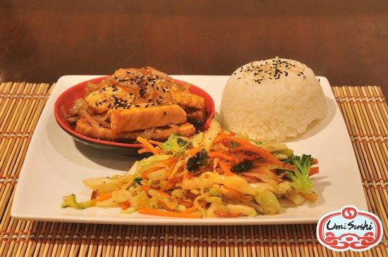 Umi Sushi: Teriyaki: Salmon-Beef-Chicken