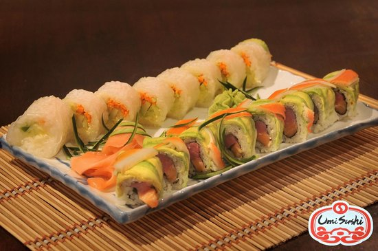 Umi Sushi: Mal Pais Roll And Rice Paper Roll