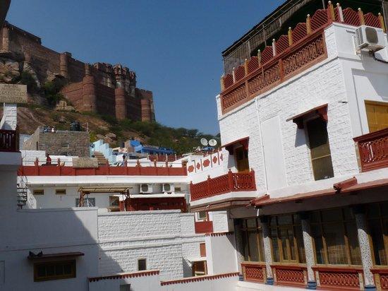 Krishna Prakash Heritage Haveli: Vue sur le Fort de Mehrangarh