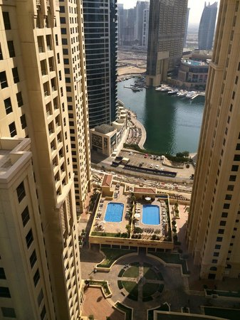 Hilton Dubai The Walk: Marina view from room 2305