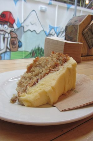 Fleet River Bakery: Hummingbird Cake (banana pineapple cake with mascarpone icing)