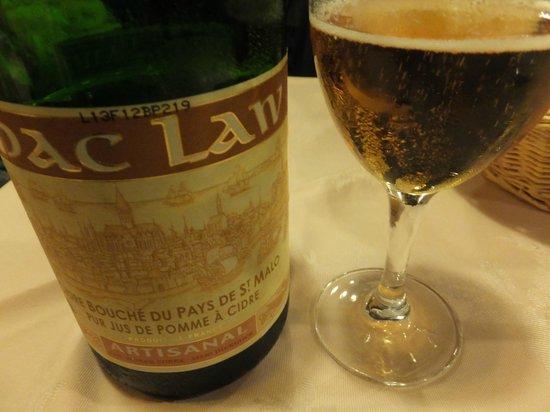 L'Ancrage : シードルはワインより安いので味も良いしお勧めです。