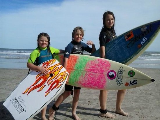 Island Retreat : TAKE YOUR KIDS SURFING IN TX
