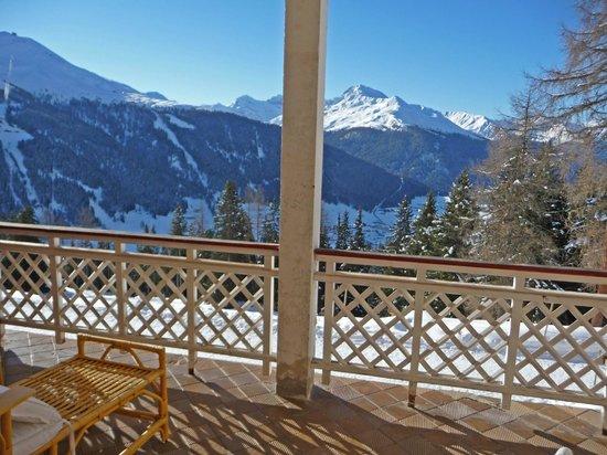 Berghotel Schatzalp: Balcon de la chambre
