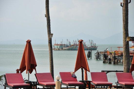 Samui Pier Resort: Сборище рыбацких шхун недалеко от рыбного рынка