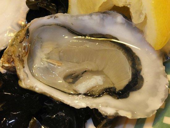 L'Ancrage : 生牡蠣はシードルと合いますね。