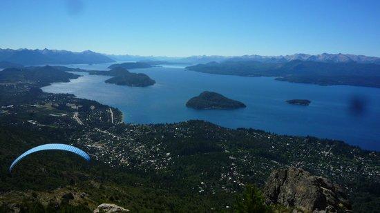 Cerro Otto: lac nahuel huapi vu du téléphérique