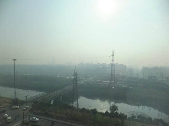 Holiday Inn New Delhi Mayur Vihar Noida: Another view of the stinking waterway.