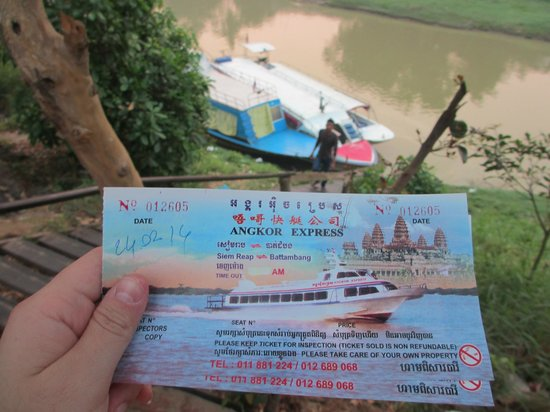 Angkor Express Boat: We swopped the pink ticket (that the homestay passed us) for a more proper looking ticket