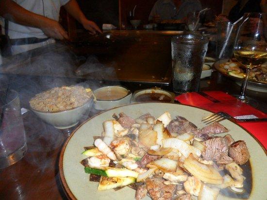 Benihana: our meal