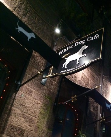 Bow-wow-wow, White Dog Cafe, great pick while touring Penn
