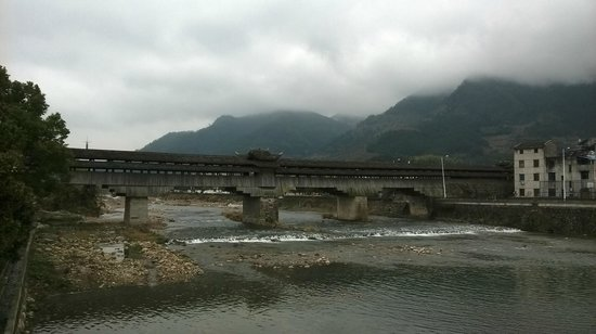 Longquan, China: Yonghe Bridge Downstream View