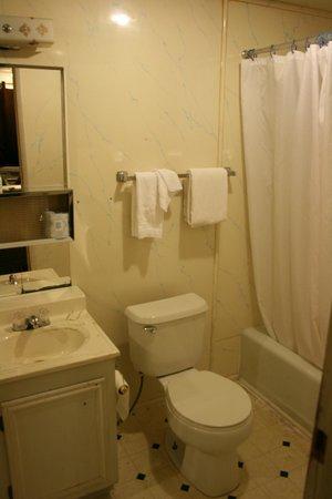 Robbers Roost Motel: Badezimmer mit alter Einrichtung