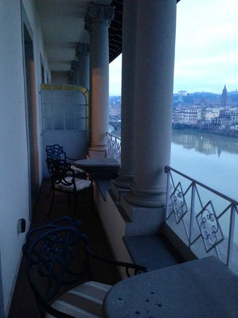 The St. Regis Florence: Spacious   Balcony  overlooking  the Arno