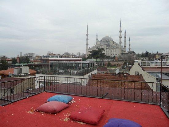 Angel's Home Hotel: Mosquée bleue de la terrasse