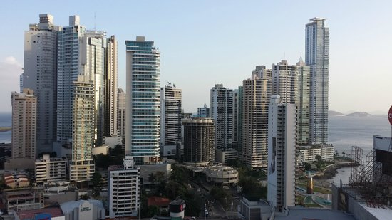 Hard Rock Hotel Panama Megapolis : View from Balcony looking at Pacific and Casco Viejo