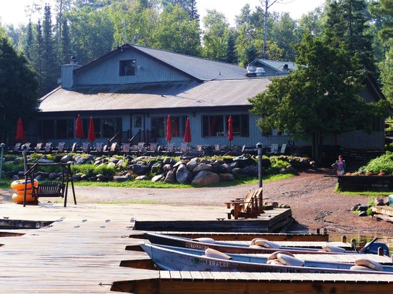 Gunflint Lodge: Main Lodge from the Boat Dock
