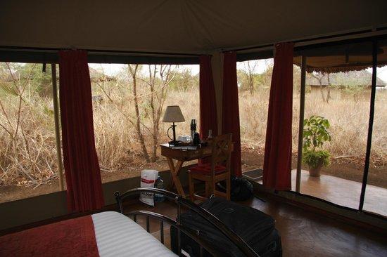 Ikweta Safari Camp: View from inside the tent