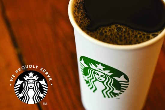 We Now Serve Starbucks Coffee At Our In