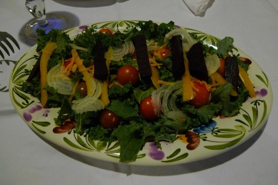 Crater Valley: Salade done with vegetable from the hotel's vegetable garden