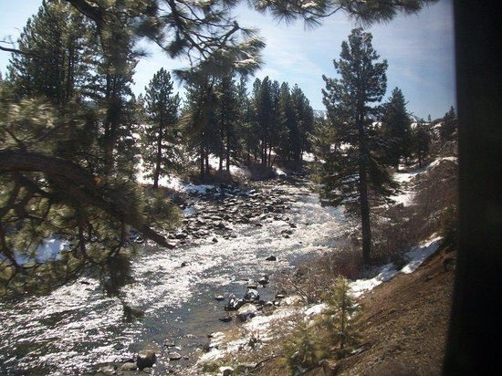 California Zephyr: Snapped as the train followed the Truckee River