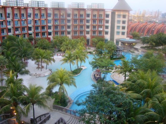 Hard Rock Hotel Singapore: The pool from our room