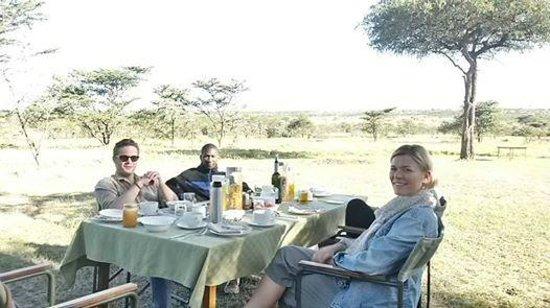 Naboisho Camp, Asilia Africa: Bush breakfast at naboisho camp