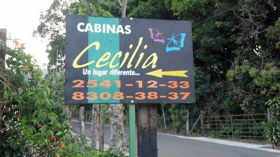 Cabinas Cecilia: Roadsign