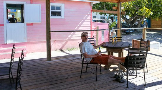 Queen Conch: The back patio.