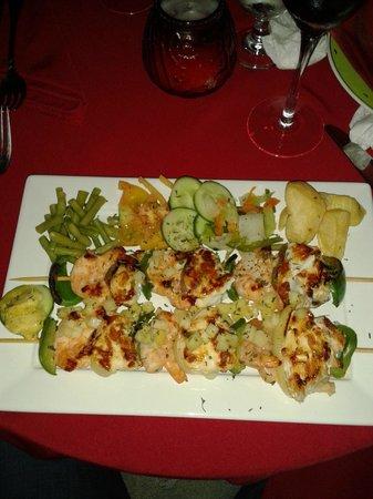 La Vaca Rosada: Brochettes de Langouste et Crevettes     10/10