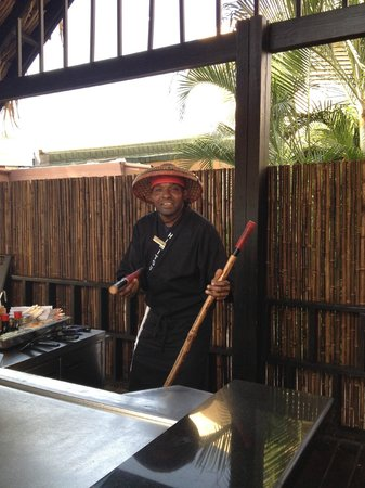 Sunscape Curaçao Resort Spa & Casino: Japanese resaurant cooking demo