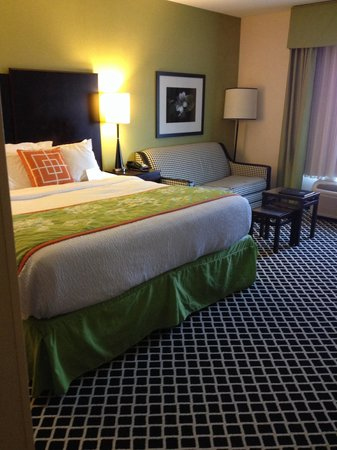 Fairfield Inn & Suites Elkin Jonesville : Cozy and nicely decorated room 502.