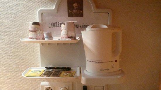 Logis Novalis : bouilloire et accessoires :-)