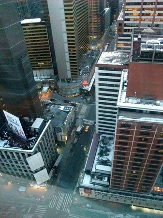 Novotel New York Times Square: Vue de notre chambre au 27ème étage