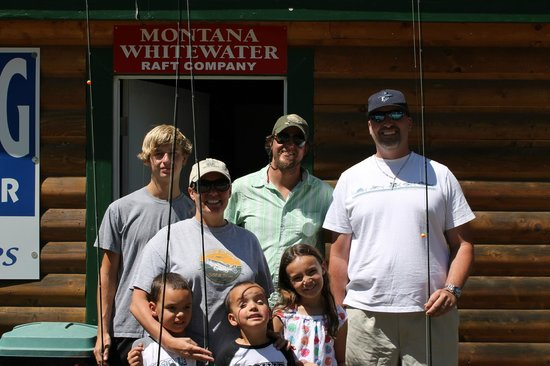 Montana Whitewater Raft Company: Our group with our guide