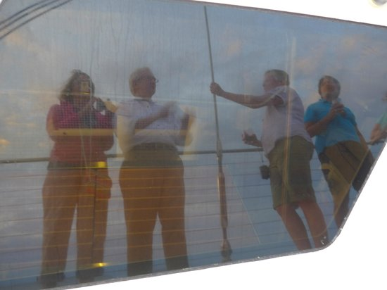Captain Andy's Sailing Adventures: Reflection photo from side of boat.