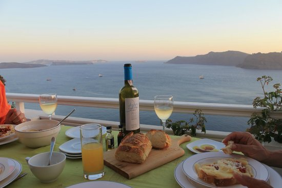 Alexander's Boutique Hotel of Oia: Memorable dinners