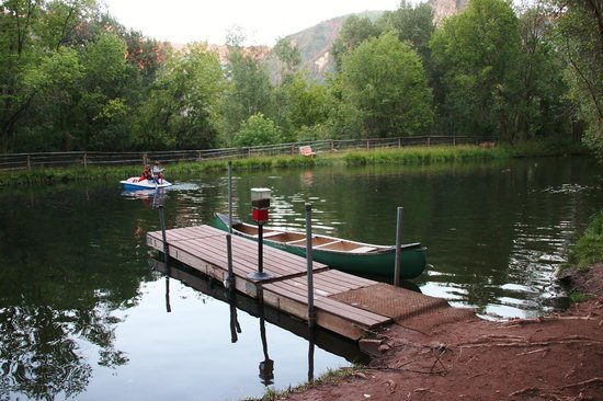 Avalanche Ranch: Pond the kids love to boat around in.