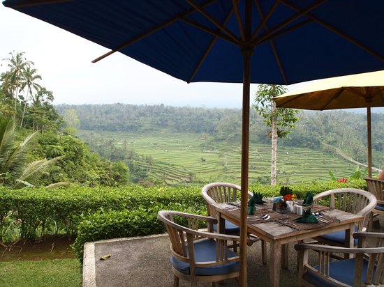Sila's Bali Tours - Day Tours: Hillside restaurant