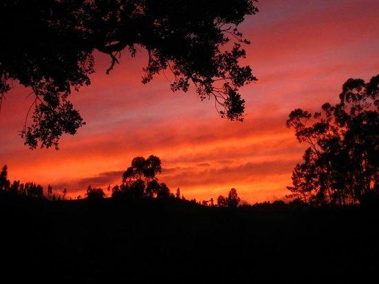 Casa Monchique: Zonsondergang gezien vanaf de b&b